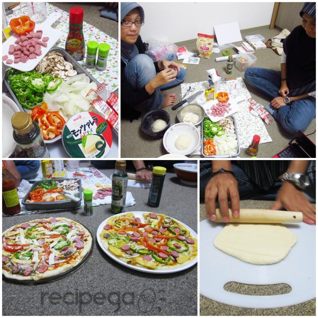 Pizza making with friends (memory when I wasn't married yet :D)
