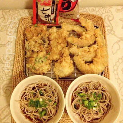 My kakesoba and tempura (2014)