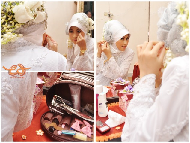 Make up session for the 1st ceremony (Akad Nikah) at bride's home