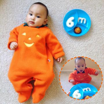 Musa 6mos picture: little pumpkin :D