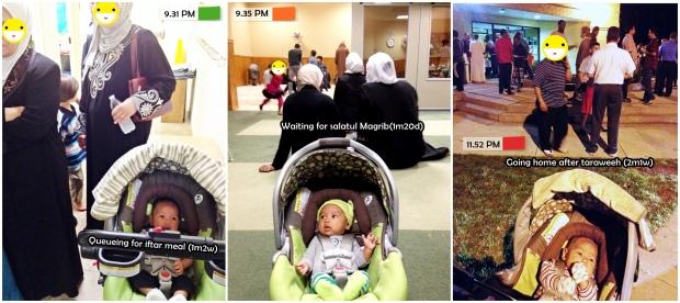 Foto-foto Musa ikutan ke masjid Ramadan tahun lalu. Udah malam, tapi masih melek semua.. hehe.