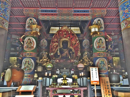 Inside the pagoda at Naritasan