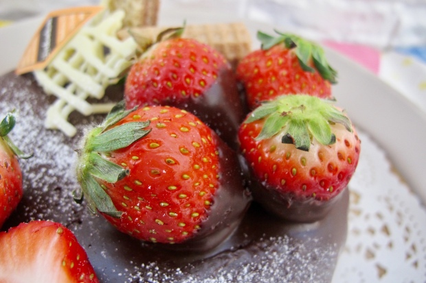 Chocolate covered dipped strawberry