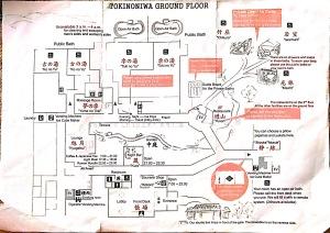 Tokinoniwa Ryokan leaflet - Map
