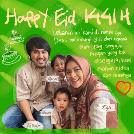 Eid Card 2020 - With Photo by Mama